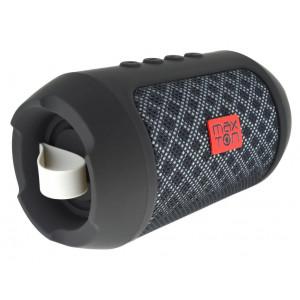 Φορητό Ηχείο Bluetooth Maxton Masaya MX116 3W Μαύρο με Ανοιχτή Ακρόαση, Audio-in, MicroSD και FM Radio 5908235974125