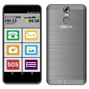 Maxcom MS553 FS (Dual Sim) LTE 5.5 Android 7.0 1280*720 QHD IPS Quad Core 1.45 GHz 2GB/16GB Μαύρο 5908235974200