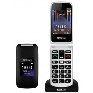 Maxcom MM824 with Camera, FM Radio (Works without Handsfre), and Emergency Button & Suitable for Hearing Aids Black 5908235974293