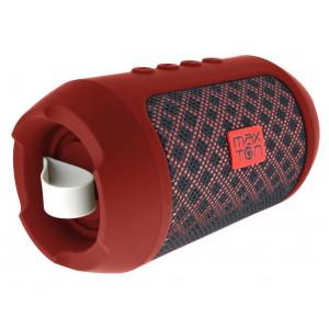 Φορητό Ηχείο Bluetooth Maxton Masaya MX116 3W Red με Ανοιχτή Ακρόαση, Audio-in, MicroSD και FM Radio 5908235974323