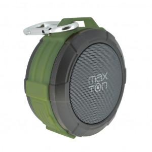 Φορητό Ηχείο Εξωτερικού Χώρου Bluetooth Maxton Telica MX51 3W IP5 Πράσινο με Ανοιχτή Ακρόαση, Audio-in, MicroSD 5908235974392