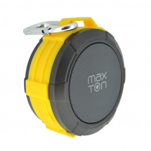 Φορητό Ηχείο Εξωτερικού Χώρου Bluetooth Maxton Telica MX51 3W IP5 Κίτρινο με Ανοιχτή Ακρόαση, Audio-in, MicroSD 5908235974408