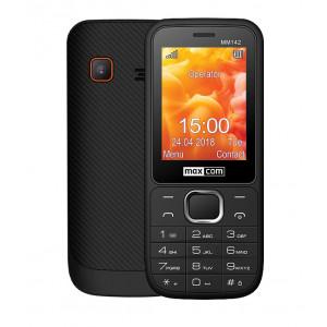 Maxcom MM142 (Dual Sim) 2.4 με Κάμερα, Bluetooth, Φακό, Ανοιχτή Ακρόαση και Ραδιόφωνο Μαύρο 5908235974453