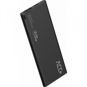 Power Bank ACC+ THIN 3600 mAh Fast Charge Μαύρο 5908235974569