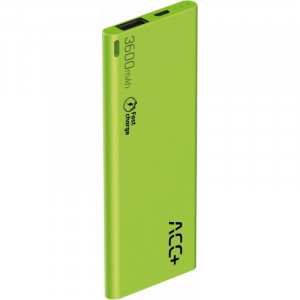 Power Bank ACC+ THIN 3600 mAh Fast Charge Πράσινο 5908235974576