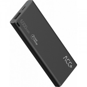 Power Bank ACC+ THIN 6000 mAh Fast Charge Μαύρο 5908235974583