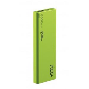 Power Bank ACC+ THIN 6000 mAh Fast Charge Πράσινο 5908235974590