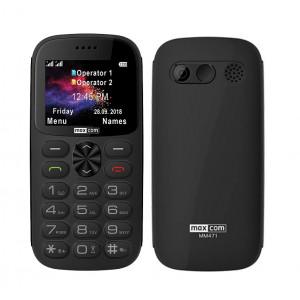 Maxcom MM471 Dual SIM 2.2 με Μεγάλα Πλήκτρα, Βάση Φόρτισης, Bluetooth, Ραδιόφωνο, Φακό, Κάμερα και Πλήκτρο Έκτακτης Ανάγκης Μαύρο 5908235974811