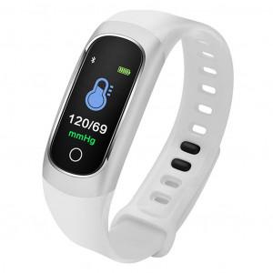 Maxcom Smartband FitGo FW12 Oxygen IP67 Ασημί Silicon Band 5908235975122