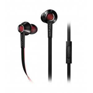 Philips Philips Fidelio S1 Stereo Headphone with Microphone 3.5 mm Black - Red  for mp3, mp4 and Sound Devices 609585237865