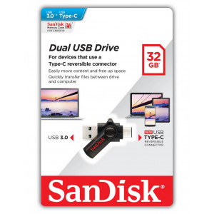 USB 3.0 Sandisk OTG USB Type-C to USB 3.0 32GB 619659129682