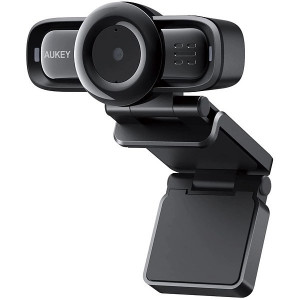 USB Webcam PC Aukley PC-LM3 1080p/30fps Μαύρη με 2χEνσωματωμένο Μικρόφωνο και Auto Focus 631390543282