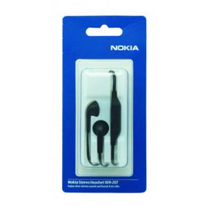 Hands Free Stereo Nokia WH-207 για E6-00/700 3,5 mm Μαύρο Original 6438158271739