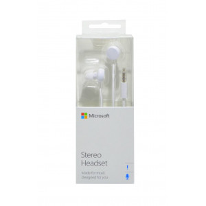 Hands Free Stereo Microsoft WH-208 για Lumia 520/900 3,5 mm Λευκό 6438158740273