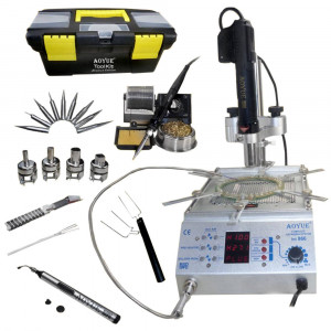 Soldering Station Aoyue Int866 60W 4 in 1 with Hot Air Gun 400W, Pre-Heater 400W, and Vacuum Suction 6906109107883