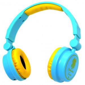 Stereo Headphone Keeka KE-600 40mm 3.5 mm Blue for mp3, mp4 and sound devices 6921515605006