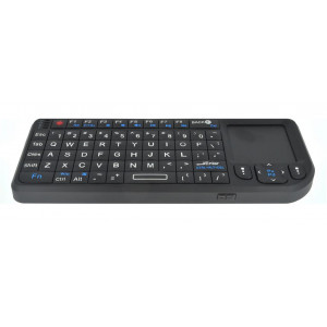Πληκτρολόγιο Wireless Ultra Mini με Touchpad All-in-One για PC, SmartTV, Android TV Μαύρο 692337819