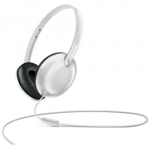 Stereo Headphone Philips SHL4405WT/00 for Apple-Samsung-Sony-Huawei-LG with Microphone 3.5 mm White 6925970711395
