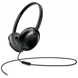 Ακουστικά Stereo με Μικρόφωνο Philips SHL4405BK/00 3.5 mm για Apple-Samsung-Sony-Huawei-LG Μαύρο 6925970711401