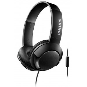 Stereo Headphone Philips BASS+ SHL3075BK/00 for Apple-Samsung-Sony-Huawei-LG with Microphone 3.5 mm Black 6925970712415