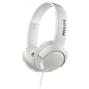 Stereo Headphone Philips BASS+ SHL3075WT/00 for Apple-Samsung-Sony-Huawei-LG with Microphone 3.5 mm White 6925970712422