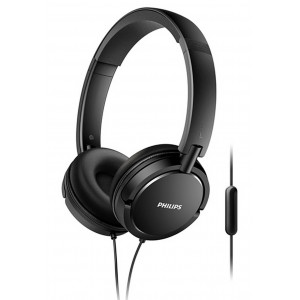 Philips Stereo Headphone On-Ear SHL5005/00 3.5 mm Black with Microphone for Mobile Phones, mp3, mp4 and sound devices 6925970712460