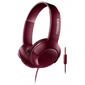 Stereo Headphone Philips BASS+ SHL3075RD/00 for Apple-Samsung-Sony-Huawei-LG with Microphone 3.5 mm Red 6925970712958