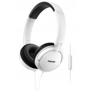 Philips Stereo Headphone On-Ear SHL5005/00 3.5 mm White with Microphone for Mobile Phones, mp3, mp4 and sound devices 6925970713344