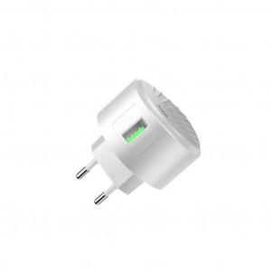 Φορτιστής Ταξιδίου Hoco C68A Shell Single USB QC 3.0 18W Λευκός 6931474703934