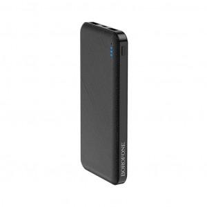 Power Bank Borofone BT20 Powerful 10000mAh Micro USB & Type-C Input & Dual USB 5V/2A Output Fast Charging και ένδειξη LED Μαύρο 6931474704375