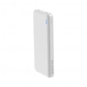 Power Bank Borofone BT20 Powerful 10000mAh Micro USB & Type-C Input & Dual USB 5V/2A Output Fast Charging και ένδειξη LED Λευκό 6931474704382