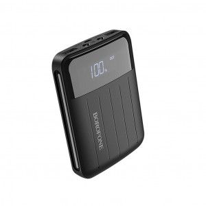 Power Bank Borofone BT21 Universal Energy 10000mAh Micro USB Input & Dual USB 5V/2A Output Fast Charging και ένδειξη LED Μαύρο 6931474705228