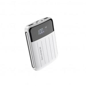 Power Bank Borofone BT21 Universal Energy 10000mAh Micro USB Input & Dual USB 5V/2A Output Fast Charging και ένδειξη LED Λευκό 6931474705235