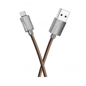 Καλώδιο σύνδεσης Hoco U61 Treasure USB σε Micro-USB Fast Charging 2.4A Καφέ 1.2μ 6931474705501