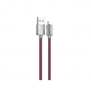 Καλώδιο σύνδεσης Hoco U61 Treasure USB σε Micro-USB Fast Charging 2.4A Μπλε 1.2μ 6931474705518