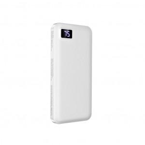 Power Bank Borofone BT22 Intelligent 10000mAh Micro USB Input & Dual USB 5V/2A Output Fast Charging και ένδειξη LED Λευκό 6931474705617