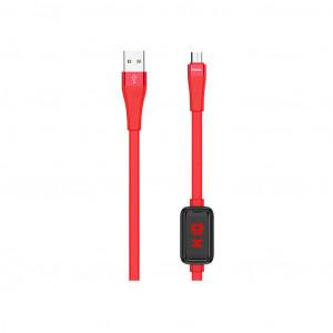 Καλώδιο σύνδεσης Hoco S4 USB σε Micro-USB 2.4A Κόκκινο 1.2m με ένδειξη φόρτισης 6931474705839