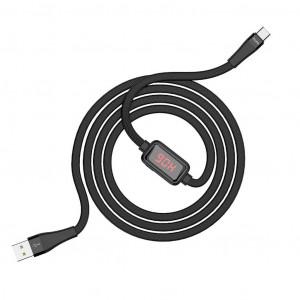 Καλώδιο σύνδεσης Hoco S4 USB σε Type-C 3.0A Μαύρο 1.2m με ένδειξη φόρτισης 6931474705846
