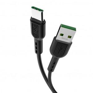 Καλώδιο σύνδεσης Hoco X33 Surge USB σε Type-C Fast Charging 5A Μαύρο 1μ 6931474706119