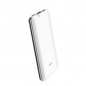 Power Bank Hoco J39 Quick Energy 10000 mAh με Micro-USB & Type-C QC 3.0, 2 εξόδους USB & Type-C 18W και Intelligent Balance Λευκό 6931474706492