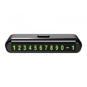 Σήμανση με Απόκρυψη Αυτοκινήτου Hoco CPH19 One-click με Τοποθέτηση στην Κονσόλα και Απόκρυψη ενός Κουμπιού Μαύρη 6931474706508