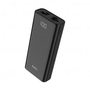 Power Bank Hoco J45 Elegant Shell 10000mAh Type-C & Micro USB και 2 USB Fast Charging, Intelligent Balance & LED Μαύρο 6931474706775