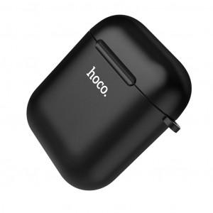 Θήκη Hoco Wireless TPU για Airpods 1/2 Μαύρη 6931474707635