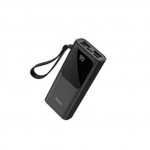 Power Bank Hoco J41 Treasure 10000mAh Type-C, Micro USB & Lightning και 2 εξόδους USB με Fast Charging, Intelligent Balance & LED Μαύρο 6931474708465