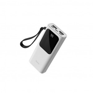 Power Bank Hoco J41 Treasure 10000mAh Type-C, Micro USB & Lightning και 2 εξόδους USB με Fast Charging, Intelligent Balance & LED Λευκό 6931474708472