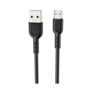Καλώδιο σύνδεσης Hoco X33 Surge USB σε Micro Fast Charging 4A Μαύρο 1μ 6931474709141