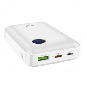 Power Bank Hoco J44 10000mAh Micro USB & Type-C και 2 εξόδους USB QC3.0 & Type-C PD 18W με Fast Charging, Intelligent Balance & LED ένδειξη Λευκό 6931474709189