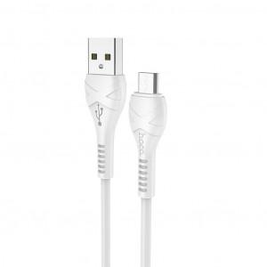 Καλώδιο σύνδεσης Hoco X37 Cool Power USB σε Micro USB Fast Charging 2.4A Λευκό 1μ 6931474710505