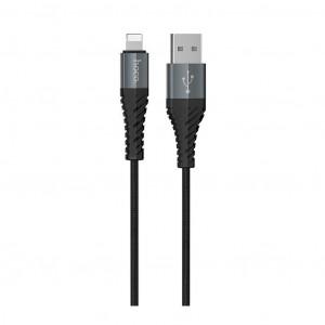 Καλώδιο Σύνδεσης Κορδόνι Hoco X38 Cool με USB σε Lightning Fast Charging Μαύρο 1μ 6931474710529