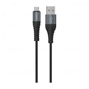 Καλώδιο Σύνδεσης Κορδόνι Hoco X38 Cool με USB σε Micro Fast Charging Μαύρο 1μ 6931474710543
